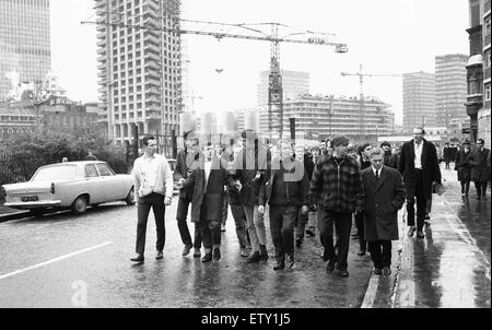 The Battle for the Barbican. Between 1965-1967, there were a series of disputes on Myton Ltd's Barbican redevelopment - Stock Photo
