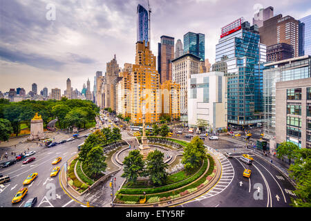 New York City, USA cityscape at Columbus Circle. - Stock Photo