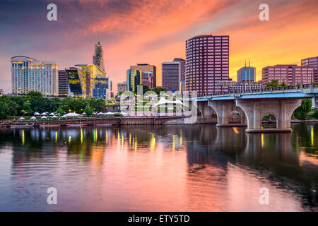 Hartford, Connecticut, USA downtown skyline. - Stock Photo