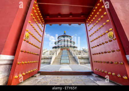 Beijing, China at the Temple of Heaven. - Stock Photo