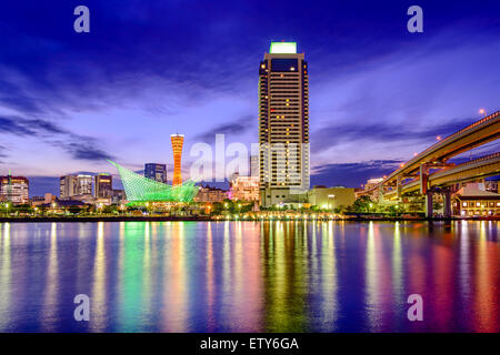 Kobe, Japan skyline at dusk. - Stock Photo