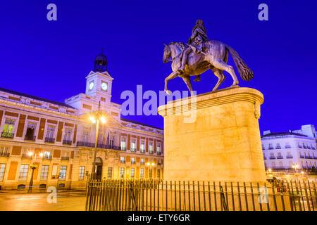 Madrid, Spain at Puerta del Sol. - Stock Photo