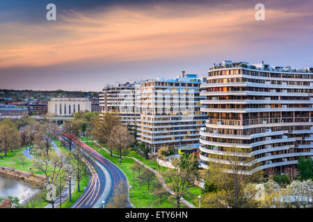 Washington, DC, USA cityscape in the Foggy Bottom District. - Stock Photo