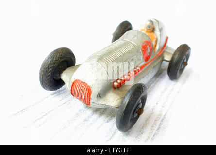 dinky racing car at speed. - Stock Photo