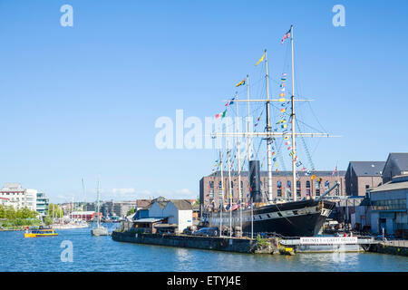 Brunel's SS Great Britain Bristol Docks Bristol Avon England UK GB EU Europe - Stock Photo