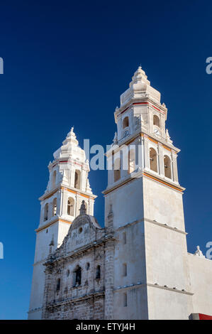 Cathedral in Campeche, Yucatan Peninsula, Mexico - Stock Photo