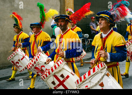 Parade, Calcio Storico, Florence, Italy - Stock Photo