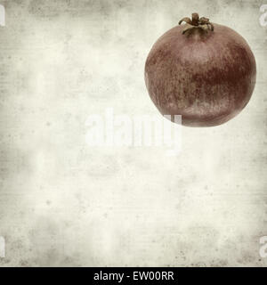 textured old paper background with pomegranate - Stock Photo