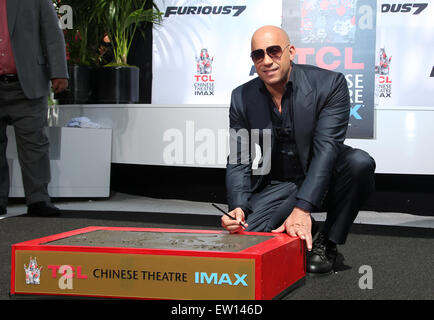 Vin Diesel S Hand Print And Foot Print Ceremony At The Tcl