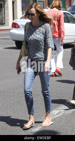 Weird Science actress Vanessa Angel goes shopping in Beverly Hills  Featuring: Vanessa Angel Where: Los Angeles, - Stock Photo