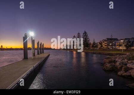 Sunset view at Mandurah, Western Australia - Stock Photo