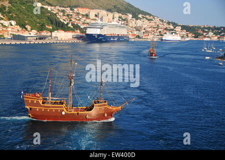 Dubrovnik on the Adriatic Sea is one of the Mediterranean's best kept secrets with its beautiful scenery and history. - Stock Photo
