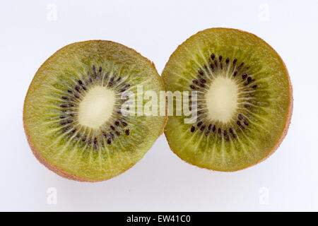 Ripe juicy kiwi on a white background - Stock Photo