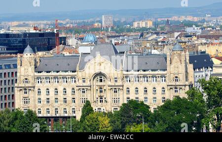 The Four Seasons palace hotel Budapest Hungary - Stock Photo
