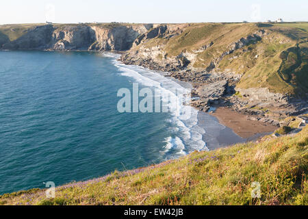 Trebarwith Strand on the North coast of Cornwall, UK - Stock Photo