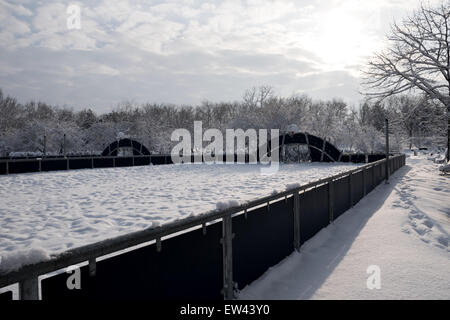 Playground in the winter - Stock Photo