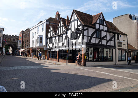 A Tudor building in Salisbury High Street, Wiltshire, United Kingdom. - Stock Photo