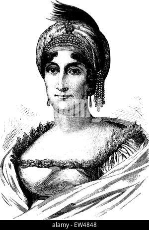 Letizia Ramolino, vintage engraved illustration. History of France – 1885. - Stock Photo
