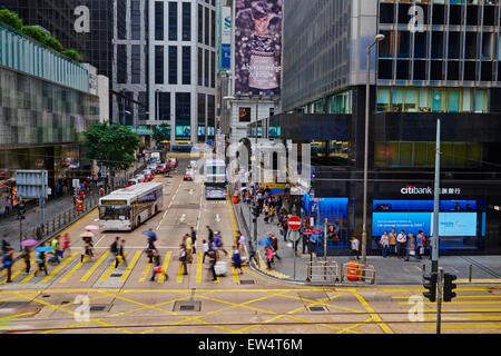 China, Hong-Kong, Hong Kong Island, Des Voeux Road Central - Stock Photo