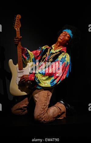 France, Paris, Grevin museum, Jimi Hendrix - Stock Photo