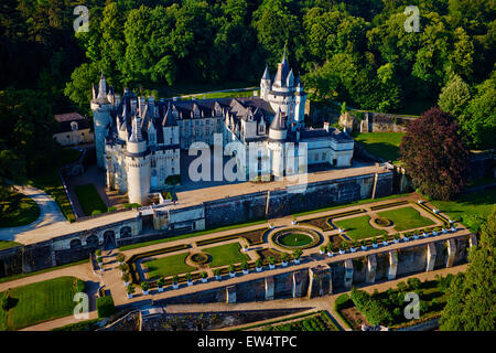 France, Indre et Loire (Department), Loire valley (Unesco World Heritage), Ussé castle, Charles Perrault wrote 'Sleeping - Stock Photo