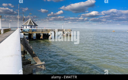 Yarmouth Pier was opened in 1876. It received Grade 2 listed status in 1975. Originally 685 ft (207.5m) long, it's - Stock Photo
