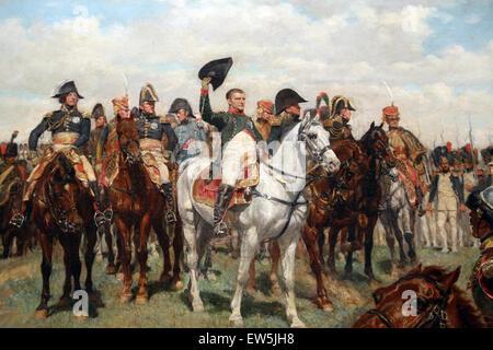 Ernest Meissonier (1815-1891). French painter. 1807, Battle of Fridland, ca. 1861-75. Detail Napoleon saluting. - Stock Photo