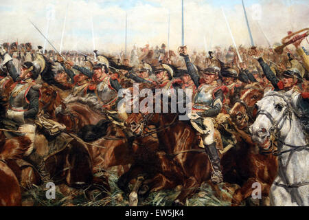 Ernest Meissonier (1815-1891). French painter. 1807, Battle of Fridland, ca. 1861-75. Detail soldiers. - Stock Photo