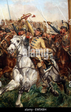 Ernest Meissonier (1815-1891). French painter. 1807, Battle of Fridland, ca. 1861-75. Detail. Soldiers. - Stock Photo