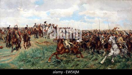 Ernest Meissonier (1815-1891). French painter. 1807, Battle of Fridland, ca. 1861-75.  Napoleon saluting. - Stock Photo