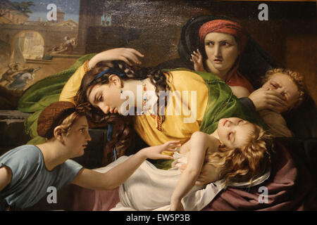 Francois Joseph Navez (1787-1869). The Massacre of the Innocents, 1824. Oil on canvas. Metropolitan Museum of Art. - Stock Photo