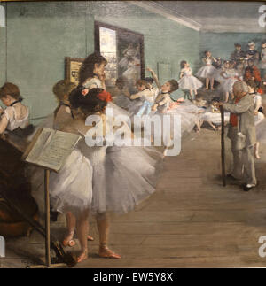 Edgar Degas (1834-1917). French painter. The Dance Class, 1874. Oil on canvas. Metropolitan Museum of Art. Ny. USA. - Stock Photo