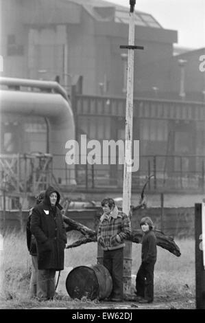 1980 Steel Strike, Shutdown, British Steel Corporation, North Yorkshire, Thursday 3rd January 1980. - Stock Photo
