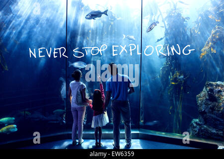 Composite image of never stop exploring - Stock Photo