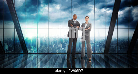 Composite image of confident business team - Stock Photo