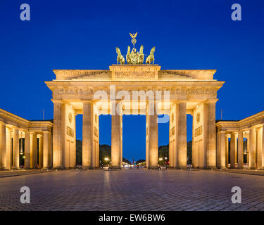 Berlin, Germany at Brandenburg Gate. - Stock Photo