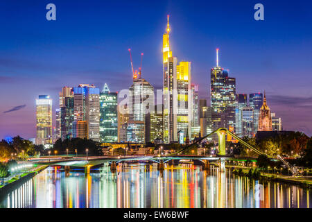 Frankfurt, Germany skyline on the Main River. - Stock Photo