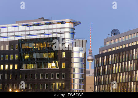 Modern architecture, Alex TV Tower,  Berlin , Germany - Stock Photo