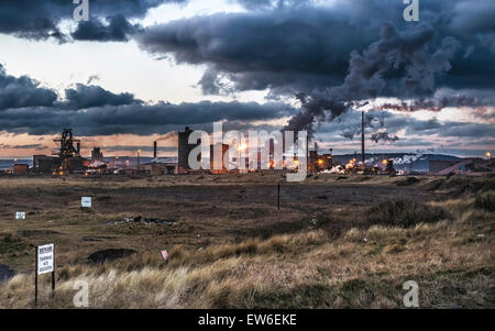 Teeside steelworks - Stock Photo