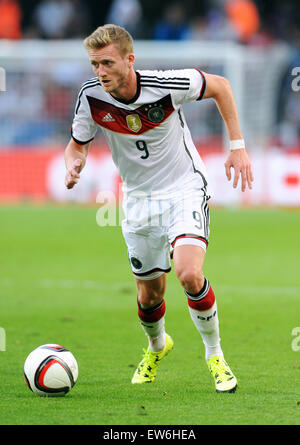Friendlymatch at Rhein Energie Stadion Cologne: Germany vs USA: Andre Schuerrle (GER) - Stock Photo