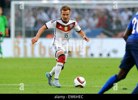 Friendlymatch at Rhein Energie Stadion Cologne: Germany vs USA: Mario Goetze (GER) - Stock Photo