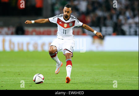 Friendlymatch at Rhein Energie Stadion Cologne: Germany vs USA: Karim Bellarabi (GER) - Stock Photo