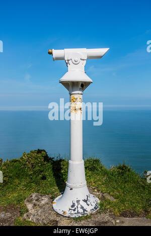 Old tourist telescope - Stock Photo