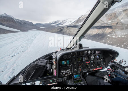 Flying over the Taylor Glacier, Antarctica - Stock Photo