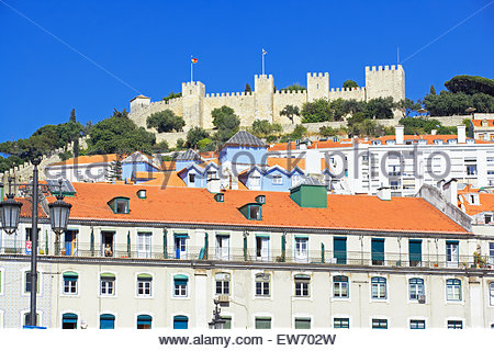 Saint George Castle, Lisbon, Portugal - Stock Photo