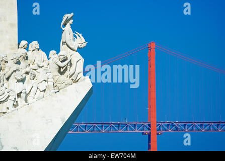 Monument of the Discoveries, Belem, Lisbon, Portugal, Europe - Stock Photo
