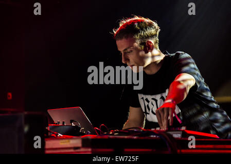 Barcelona, Catalonia, Spain. 18th June, 2015. Berlin based DJ and producer JAY DONALDSON, aka PALMS TRAX, delivers - Stock Photo