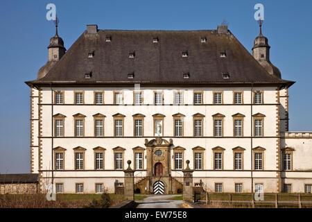 Schloss Sichtigvor, Castle of the Teutonic Order, Mülheim, Warstein, Sauerland, North Rhine-Westphalia, Germany - Stock Photo