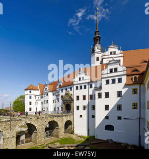 Hartenfels Castle, Torgau,  Germany - Stock Photo