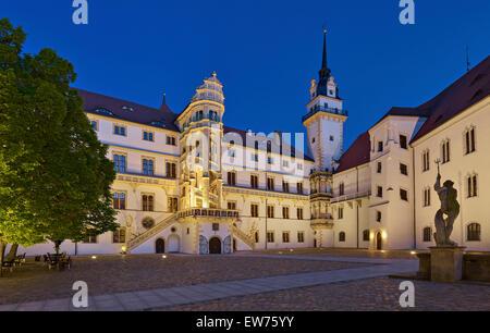 Hartenfels Castle, Torgau,  Germany - Stock Photo